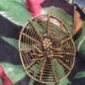 Spider Brooch Huge 1940s Vintage Pin (SOLD)